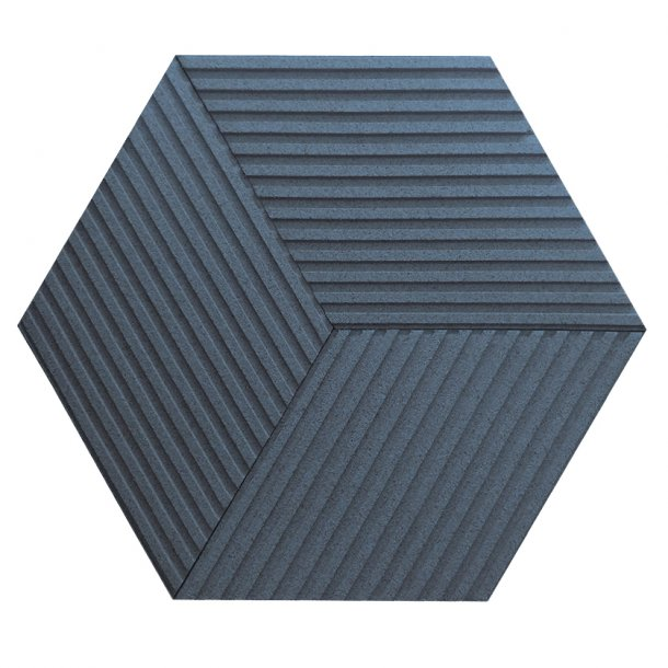 Unique and decorative BLUE cork wall tiles 3D STRIPE