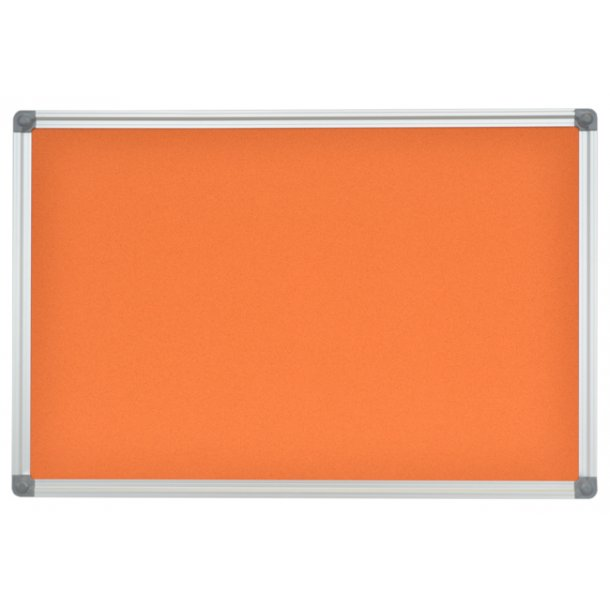 ORANGE cork memo board 90x120cm with an aluminium DecoLine frame