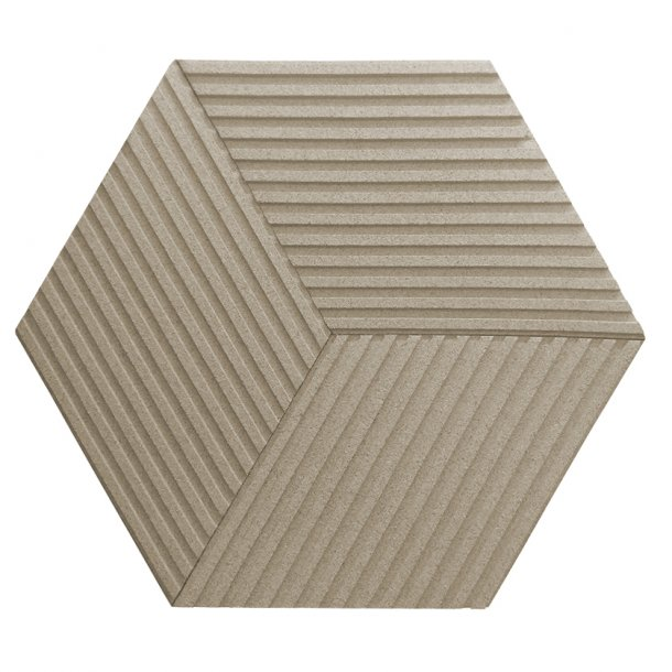 Unique and decorative IVORY cork wall tiles 3D STRIPE