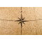 Large black natural cork globe 25cm - perfect for any globetrotter and travel enthusiast!
