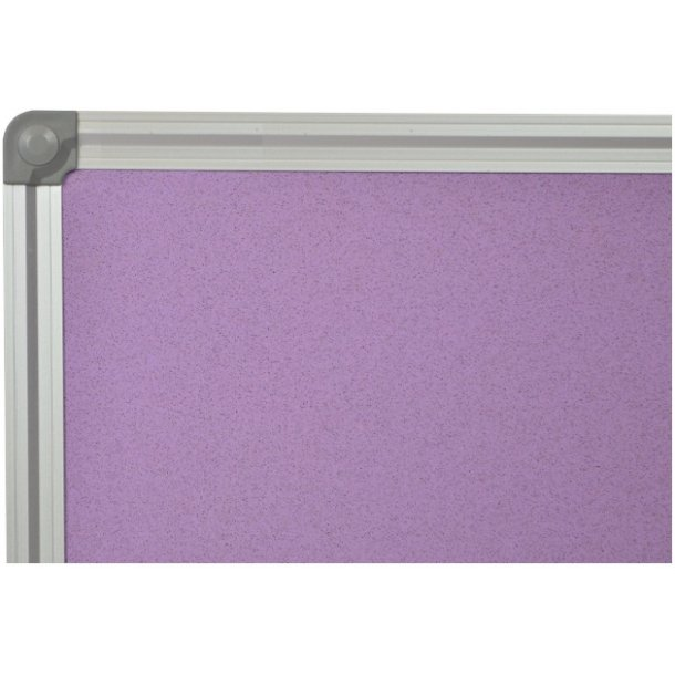 PURPLE cork memo board 70x100cm with an aluminium DecoLine frame