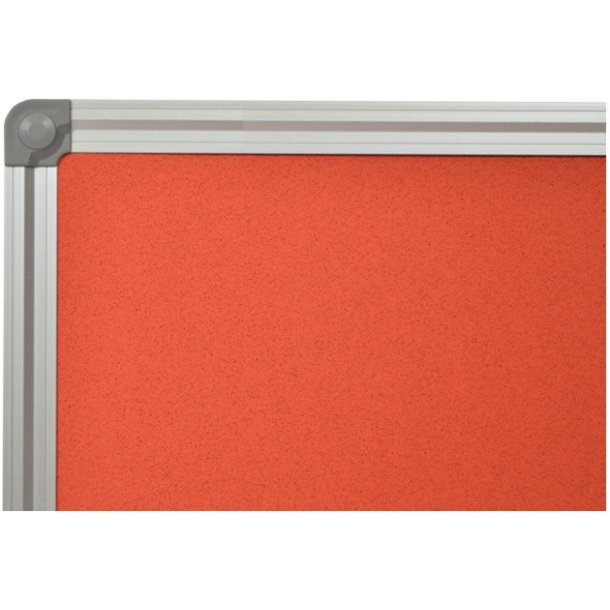 RED cork memo board 90x120cm with an aluminium DecoLine frame
