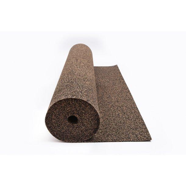 Rotolo sughero gomma isolante 3mm x 1m x 10m sottopavimento per tutti i tipi di pavimento