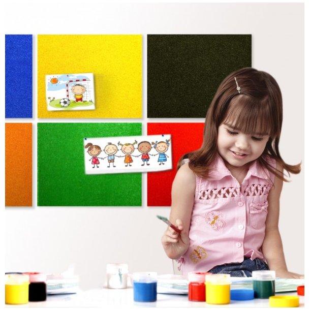 Self adhesive YELLOW cork board wall 5x455x610mm