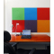 Self adhesive BLUE cork board wall 5x455x610mm