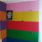 Self adhesive RED cork board wall 5x455x610mm
