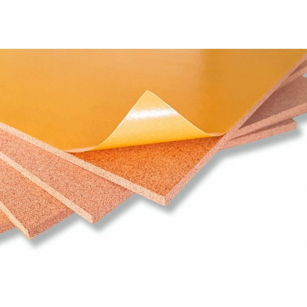 Fine-grained self adhesive cork sheet 12x635x940mm