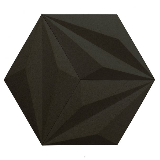Unique and decorative BLACK cork wall tiles 3D LINE
