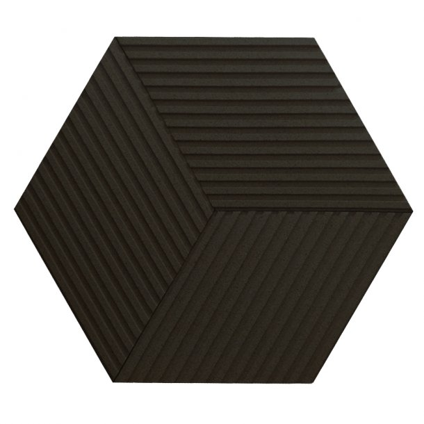 Unique and decorative BLACK cork wall tiles 3D STRIPE