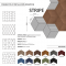 Decorative NATURAL 3D STREEP cork wall tiles - BESTSELLER!