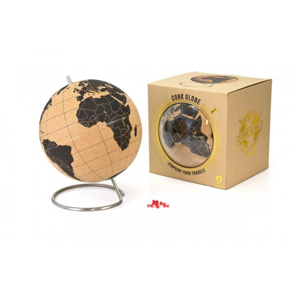 Large natural cork globe 25cm - perfect for any globetrotter and travel enthusiast!